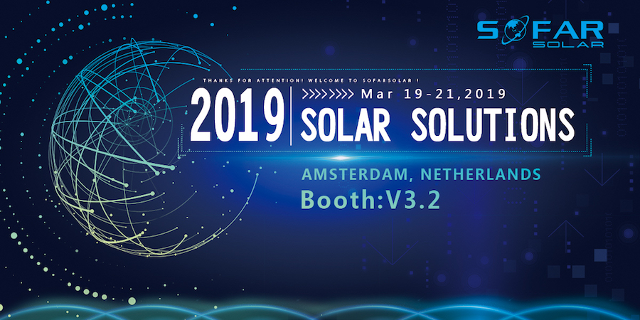 TO accelerate the pace of market promotion,Sofar solar will display in the six countries exhibition