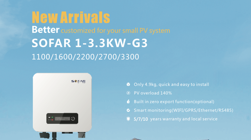 The third generation inverter of Sofar solar will be launched in the Solar Solutions